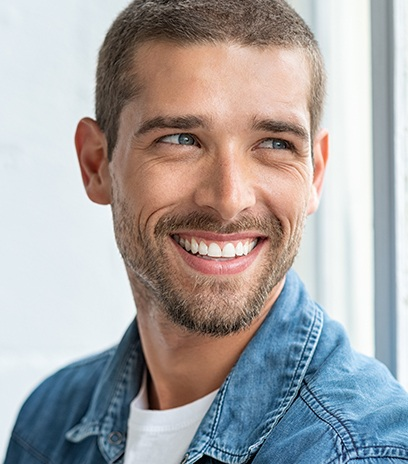 Man with Ortho K lenses smiling